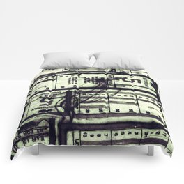 Muni Breaks Mixed Media by Faern Comforters