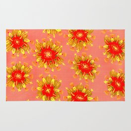 Golden Apricot Rose Rug