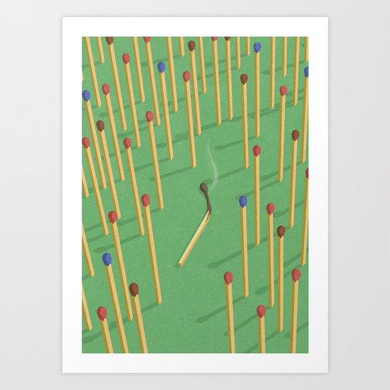 Spent match Art Print