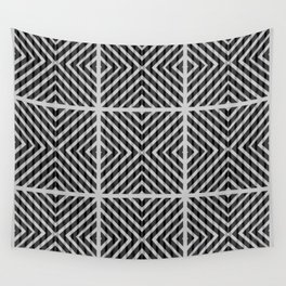 Black and white quilt patchwork composition Wall Tapestry