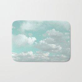 Clouds in a Mint Sky Bath Mat