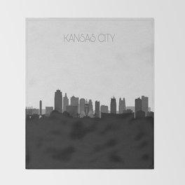 City Skylines: Kansas City (Alternative) Throw Blanket