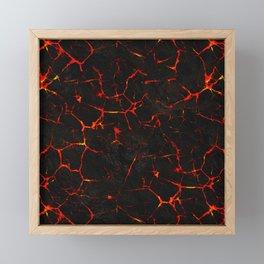 Hot Lava Framed Mini Art Print