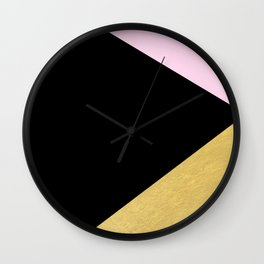 Color Block Glam Triangles Wall Clock