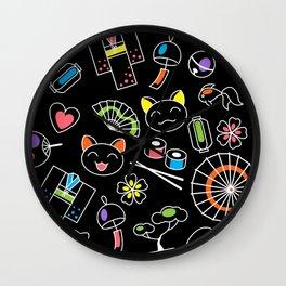 Kawaii Doodles Wall Clock