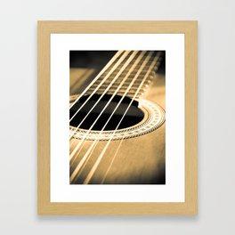 On A String Framed Art Print