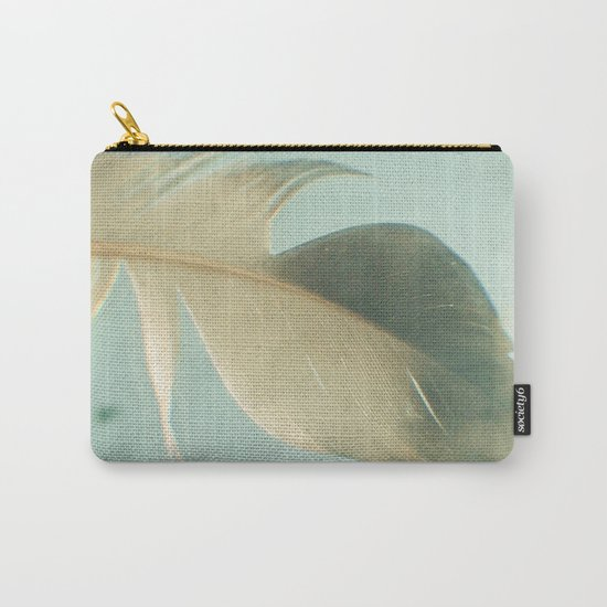 Grey Feather Carry-All Pouch