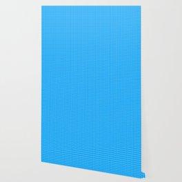 Blue Grid White Line Wallpaper