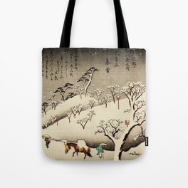 Lingering Snow at Asukayama Japan Tote Bag