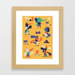 Summer and Skate Framed Art Print