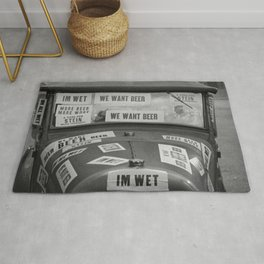 Vintage I'm Wet - We Want Beer - Repeal Prohibition black and white photograph / photographs poster Rug