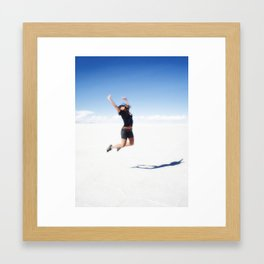 THE DESERT OF SALT Framed Art Print