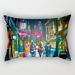 City by night Rectangular Pillow