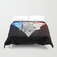 france Duvet Covers featuring bitcoin france by seb mcnulty