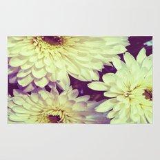White Flowers Rug