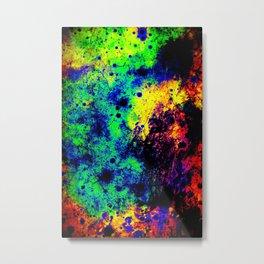 Grunge Abstract : Rainbow Metal Print