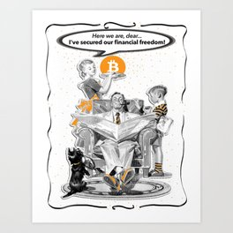 Mom Bakes...with Bitcoin! Art Print