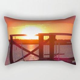 Folly Beach Sunset Rectangular Pillow