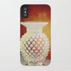 Hobnail -- Still Life with Vintage Vase Slim Case iPhone X
