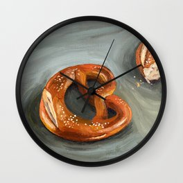 Pretzels in paint Wall Clock