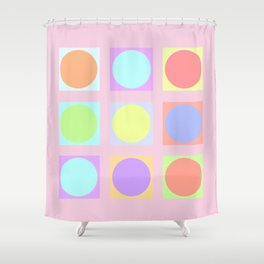 Pastel Dots Shower Curtain