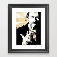 Hugh Laurie/Dr. Gregory House Framed Art Print