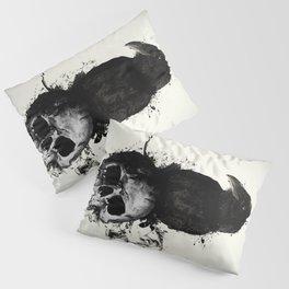 Raven and Skull Pillow Sham