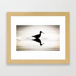 Sandpipper Ripples Framed Art Print