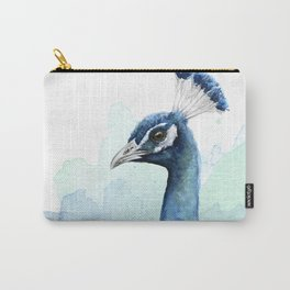 Peacock Watercolor Exotic Bird Animals Carry-All Pouch
