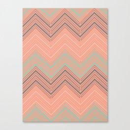 Soft Chevron Canvas Print