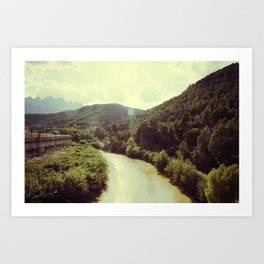 Between Mountains  Art Print