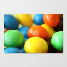 Colourful M&M's Canvas Print