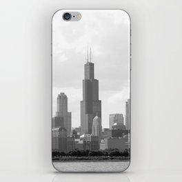Chicago Skyline Black and White iPhone Skin