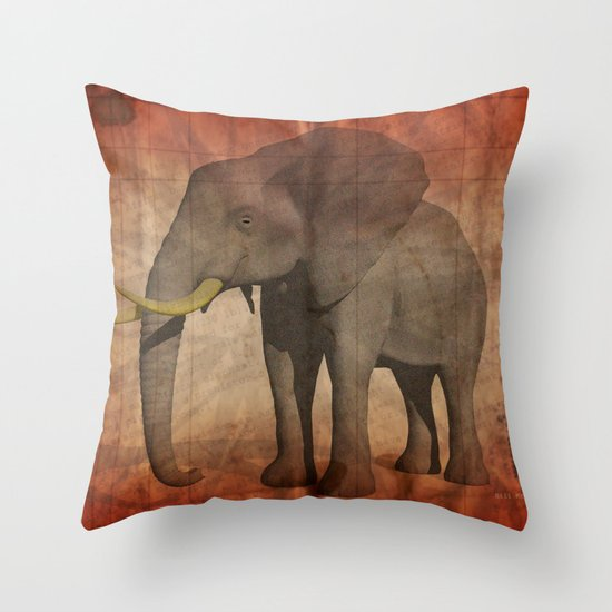 Pachydermy Throw Pillow