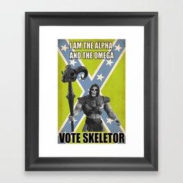 Vote Skeletor Framed Art Print