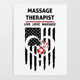 massage therapists Poster