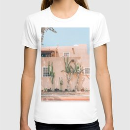 Pink House With Cactus T-shirt