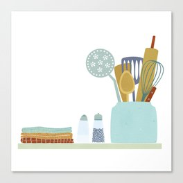 The Kitchen Shelf Canvas Print