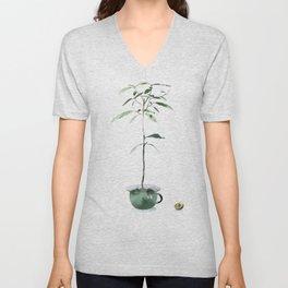Avocado Tree Unisex V-Neck