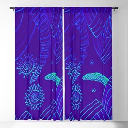 Blue Energy Transformation Blackout Curtain