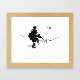 The Deke - Hockey Player Framed Art Print