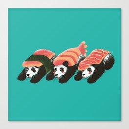 Sushi Panda Canvas Print