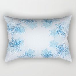 Frost on the Window Rectangular Pillow