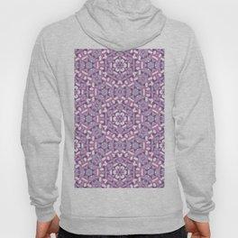 Purple Brushstrokes Geometric Hoody