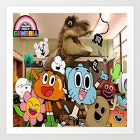 gumball Art Prints featuring GUMBALL by rosita