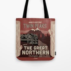 the Great Northern Hotel (Faux Canvas - rust) Tote Bag