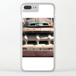 Ford Truck, Old Ford Grill, Truck, Man Cave Art Clear iPhone Case