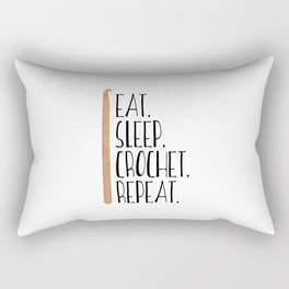 Eat Sleep Crochet Repeat Rectangular Pillow