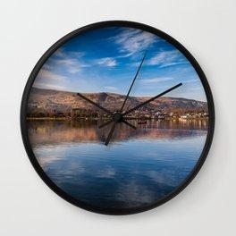 Llanberis Lake Reflections Wall Clock