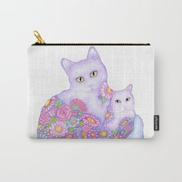 Bart and Clay - A Portrait of Two Cats  Carry-All Pouch